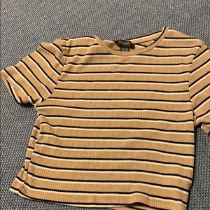 cropped striped shirt. super cute!